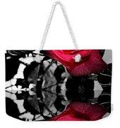 Reflective Red Rose Weekender Tote Bag