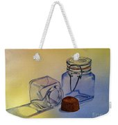 Reflective Still Life Jars Weekender Tote Bag by Brenda Brown