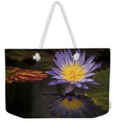 Reflective Water Lily Still Life Weekender Tote Bag