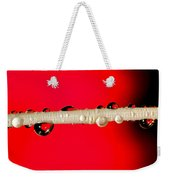 Refractions Of A Red Rose Weekender Tote Bag