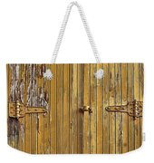 Refrigerated Boxcar Door Weekender Tote Bag