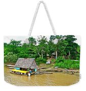 Refueling Along The Amazon River-peru  Weekender Tote Bag