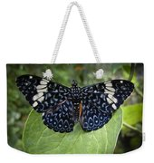 Regal Blue Butterfly Weekender Tote Bag