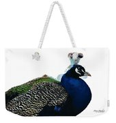 Regal Peacock Weekender Tote Bag