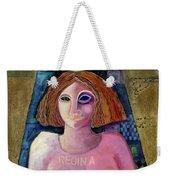 Regina, 2004 Acrylic & Metal Leaf On Canvas Weekender Tote Bag