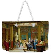 Rehearsal Of The Fluteplayer And The Diomedes Wife In The Atrium Of The Pompeian House Of Prince Weekender Tote Bag