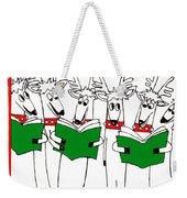 Reindeer Choir Weekender Tote Bag