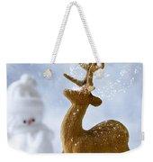 Reindeer In Snow Weekender Tote Bag