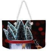Reindeer With Christmas Trees Weekender Tote Bag