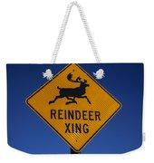 Reindeer Xing Weekender Tote Bag