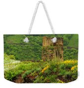 Reinfels Castle Ruins And Wildflowers In The Rhine River Valley 1 Weekender Tote Bag