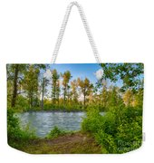 Relax By The Methow Rivers Edge Weekender Tote Bag