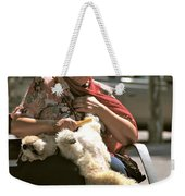 Relaxed Dog Grooming Barcelona Style Weekender Tote Bag