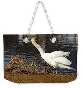 Relaxed Swan Weekender Tote Bag