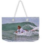 Relaxing In The Surf Weekender Tote Bag