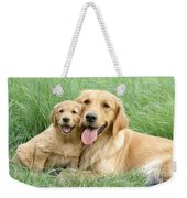 Relaxing Retrievers Weekender Tote Bag