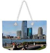 Relaxing Weekend On New York Harbor Weekender Tote Bag