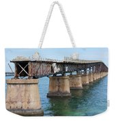 Relic Of The Old Florida Keys Overseas Railroad Weekender Tote Bag