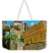 Relief In The Coutyard In Myra-turkey Weekender Tote Bag