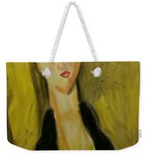 Sophisticated Lady With The Dreamy Eyes Weekender Tote Bag