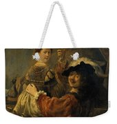Rembrandt And Saskia In The Parable Of The Prodigal Son Weekender Tote Bag