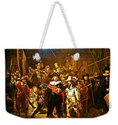 Rembrandt Painting Covered A Wall In Rijksmuseum In Amsterdam-netherlands Weekender Tote Bag