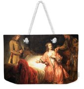 Rembrandt's Joseph Accused By Potiphar's Wife Weekender Tote Bag