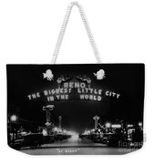 Reno Nevada The Biggest Little City In The World. The Arch Spans Virginia Street Circa 1936 Weekender Tote Bag