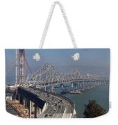 Replacement Of The Easter Span San Francisco Oakland Bay Bridge From Yerba Buena Island Oct 9th 2011 Weekender Tote Bag