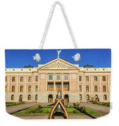 Replica Of Liberty Bell In Front Weekender Tote Bag
