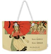 Reproduction Of A Poster Advertising The Operetta La Petite Poucette Weekender Tote Bag