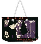 Reproduction Of A Poster Advertising Victor Bicycles Weekender Tote Bag