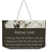 Rescue Love Adoption Weekender Tote Bag