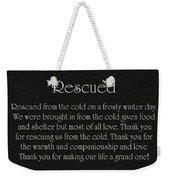 Rescued Weekender Tote Bag by Andee Design