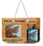 Resin Pendant With Butterfly And Sky Weekender Tote Bag