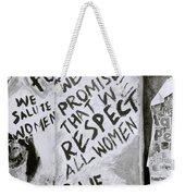 Respect Women Graffiti Weekender Tote Bag