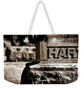 Rest Hart Bw Weekender Tote Bag