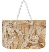 Rest On The Flight Into Egypt Weekender Tote Bag by Federico Zuccaro