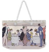 Restaurant Car In The Paris To Nice Train Weekender Tote Bag