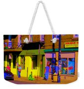 Restaurant El Pintxo Rue Roy Plateau Montreal Basque Food Spanish Cafe City Scene Art Carole Spandau Weekender Tote Bag