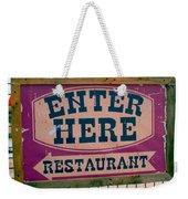 Restaurant Sign Color Weekender Tote Bag