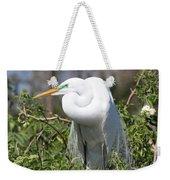 Resting Great Egret Weekender Tote Bag