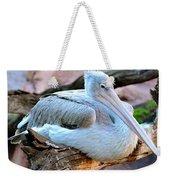 Resting Great White Pelican Weekender Tote Bag