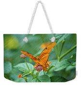 Resting Orange Butterfly Weekender Tote Bag