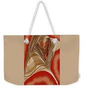 Resting Woman - Portrait In Red Weekender Tote Bag