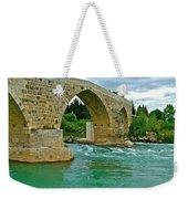 Restored Roman Bridge Over Eurynedan River-turkey Weekender Tote Bag