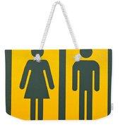 Restroom Sign Symbol For Men And Women Weekender Tote Bag