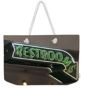Restrooms In Neon Weekender Tote Bag