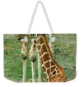 Reticulated Giraffe And Calf Weekender Tote Bag