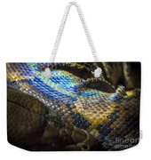 Reticulated Python With Rainbow Scales 2 Weekender Tote Bag